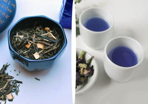 Синій чай для схуднення природним шляхом