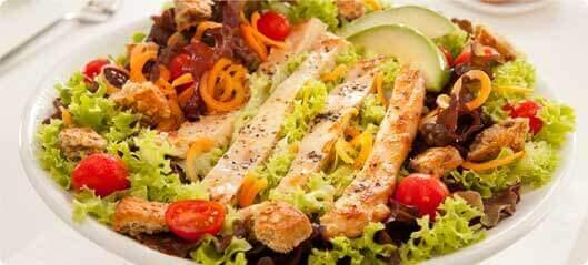 салат з насінням льону