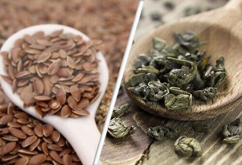 Насіння льону та зелений чай - союзники проти раку