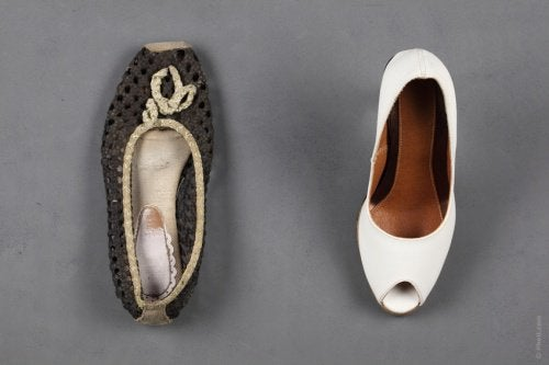використання тальку для взуття