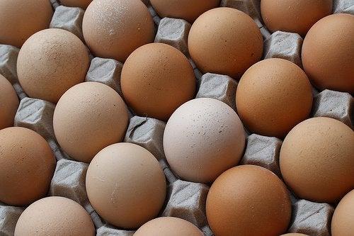 лоток з яйцями