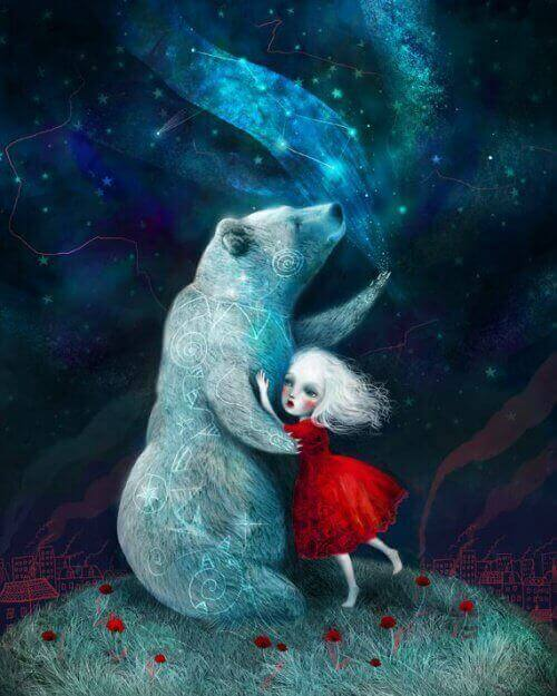 дівчинка та ведмідь