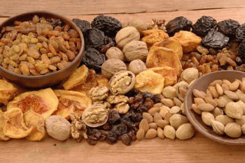 горіхи та сухофрукти