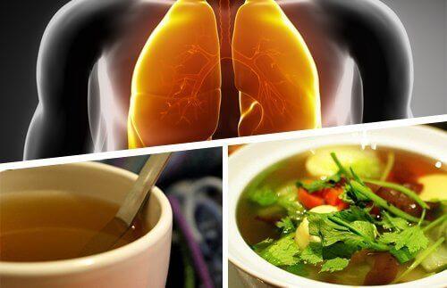 легені, чай у чашці, страва