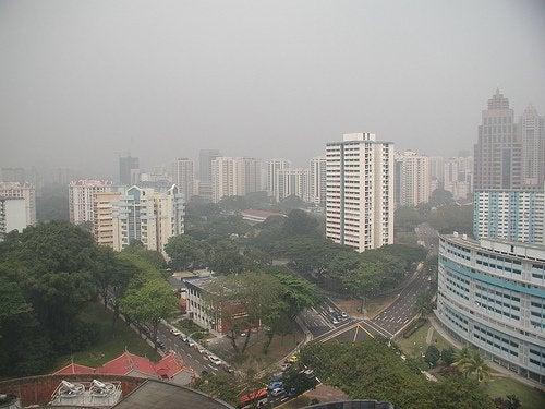 смог в місті