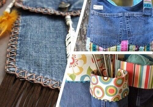 9 способів повторного використання старих джинсів