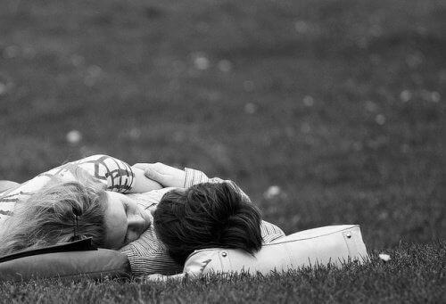 пара на траві