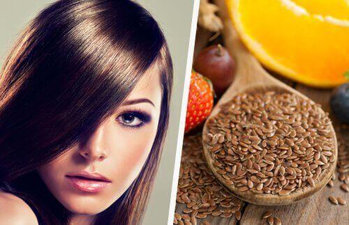 гарне волосся та лляне насіння