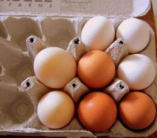 яйця в коробці