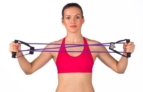 Еластичні вправи для плечей