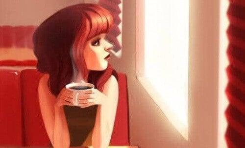 1 жінка кофе