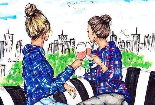 дві сестри з вином
