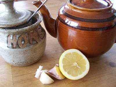 чай з часником та лимоном