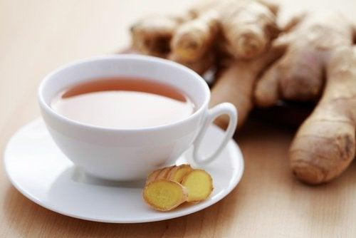 Чай з імбирем проти втоми