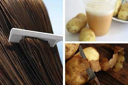Картопляний сік для стимуляції росту волосся