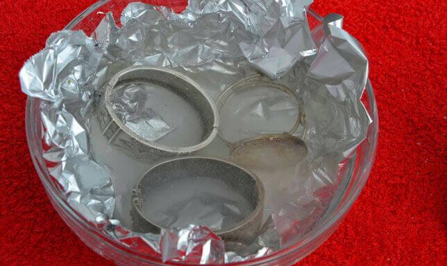 алюмінієва фольга для чищення срібла