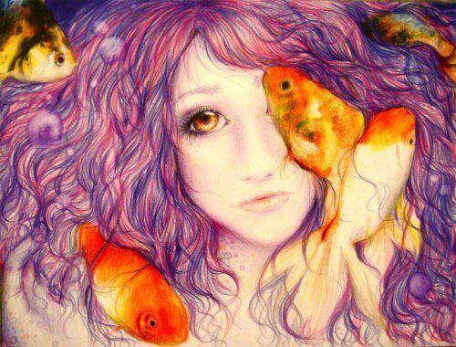 жінка з рибами