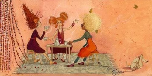 жінки за кавою