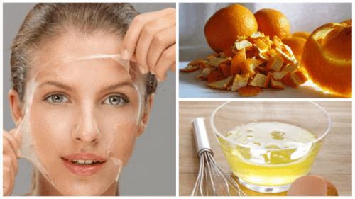 Апельсинова шкірка та яєчний білок для тонусу шкіри