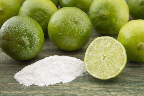лайм та харчова сода для видалення іржі