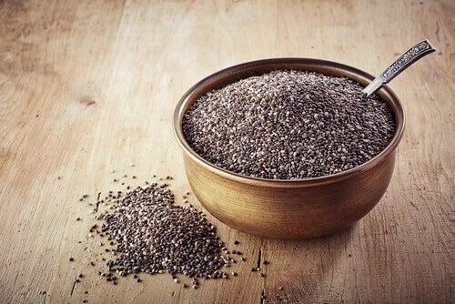 насіння чіа в посудині