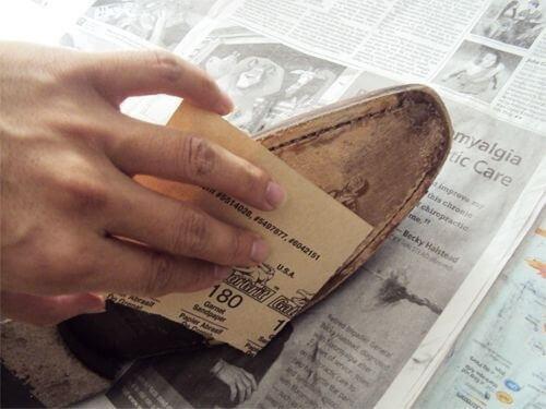 шліфування щоб не натирало взуття