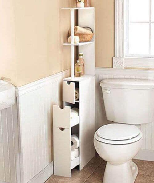 придбайтевузькі меблі у ванні кімнати
