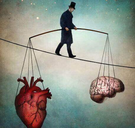 чоловік підтримує рівновагу