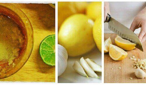 Засіб із часником і лимоном від черевного жиру