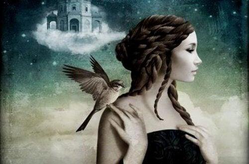 Дівчина та пташка