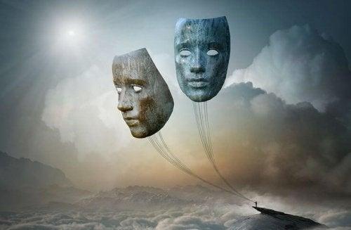 маски що символізують негативні емоції