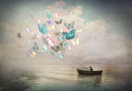 Човен та метелики