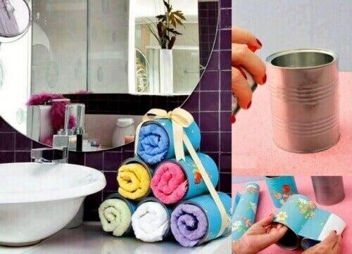 щоб ванна кімната була охайною, зробіть органайзер для рушників
