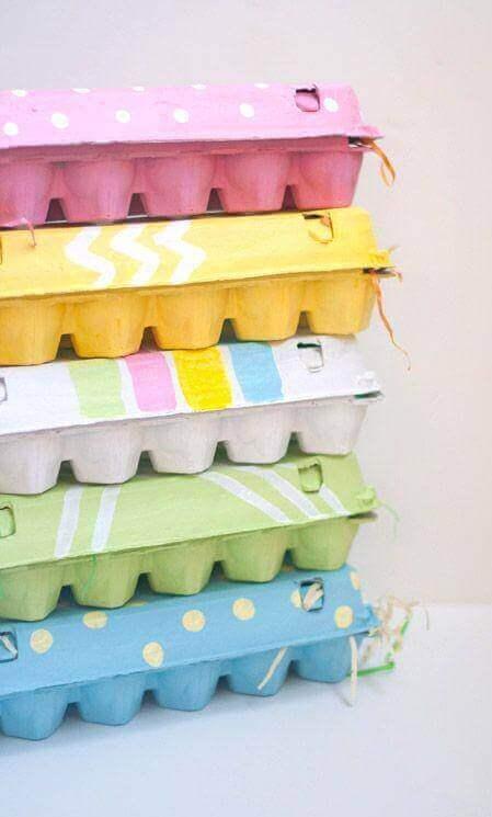 використовуйте коробки від яєць як органайзери