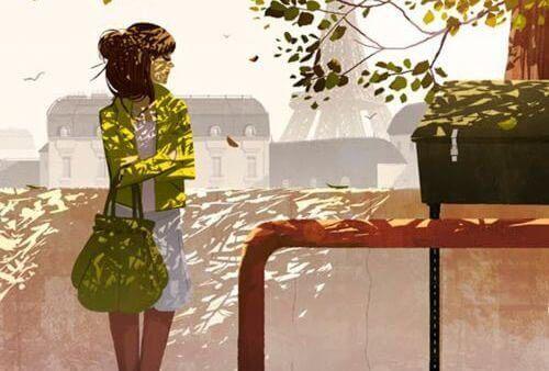 дівчина в зеленому жакеті