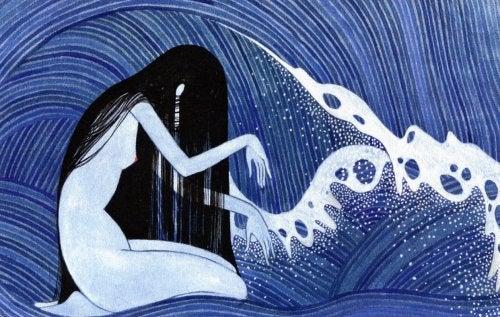 жінка в океані