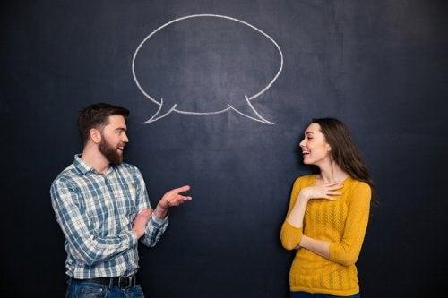 чоловік та жінка розмовляють