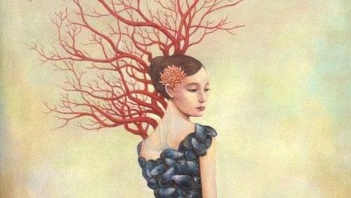 жінка з деревом