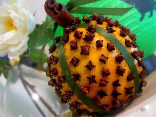 гвоздика і апельсин як спосіб боротьби з мухами