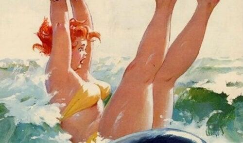 дівчина у морі