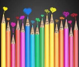 кольорові олівці