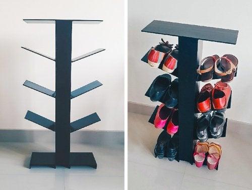 вертикальна підставка для зберігання взуття