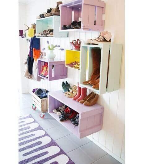 ящикиз-підфруктів для зберігання взуття
