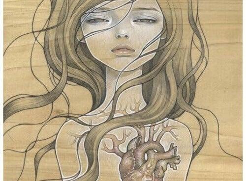 дівчина та серце