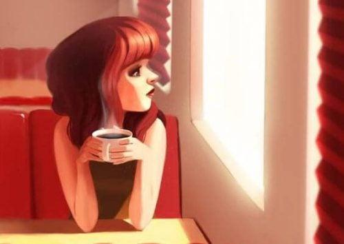 дівчина з кавою
