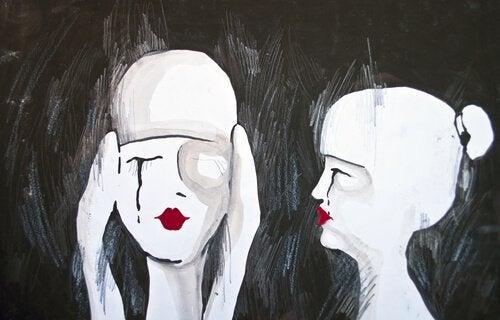 дві дівчини плаче