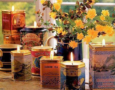 бляшанки можна використати як свічники