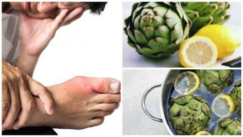 Артишок та лимонна вода для виведення сечової кислоти