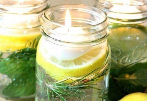 плавучі ароматизовані свічки з цитронеллою