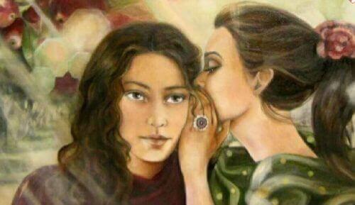 дівчина розповідає секрет подрузі